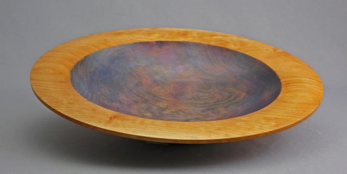 Dyed Figured Maple Bowl