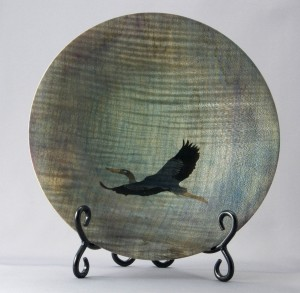 Denim Platter with Heron copy