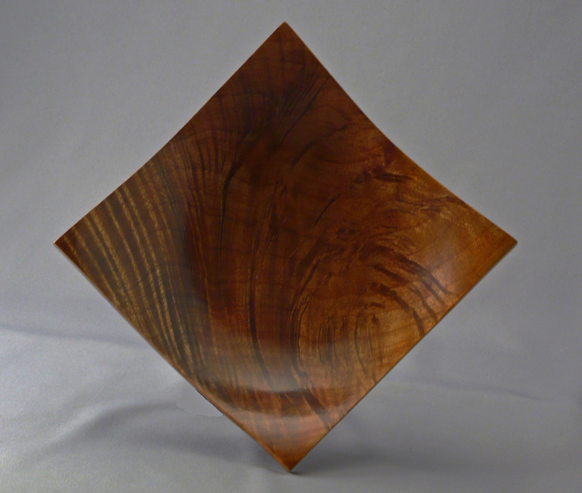 Square Edged Maple Burl Bowl with Enhanced Figure